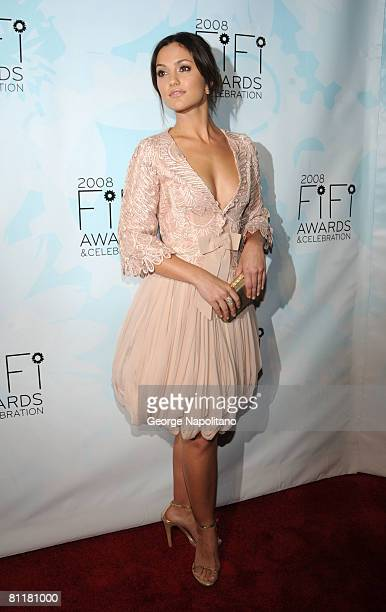 Actress Minka Kelly attends the 36th Annual Fragrance Foundation FIFI Awards on May 20 2008 at the Park Avenue Armory in New York City