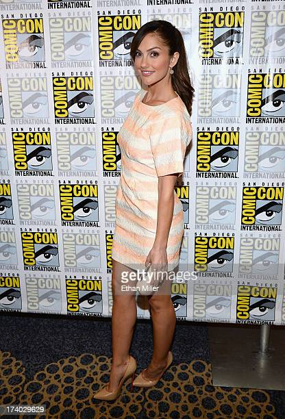 Actress Minka Kelly attends the Almost Human press room during ComicCon International 2013 at the Hilton San Diego Bayfront Hotel on July 19 2013 in...