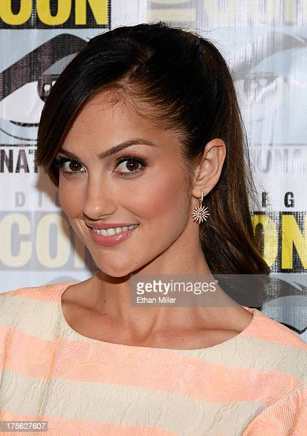 Actress Minka Kelly attends the 'Almost Human' press room during ComicCon International 2013 at the Hilton San Diego Bayfront Hotel on July 19 2013...