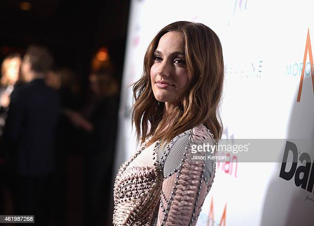 Actress Minka Kelly attends The DAILY FRONT ROW Fashion Los Angeles Awards Show at Sunset Tower on January 22 2015 in West Hollywood California