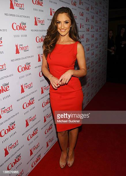 Actress Minka Kelly attends the Heart Truth's Red Dress Collection 2012 Fashion Show at Hammerstein Ballroom on February 8 2012 in New York City