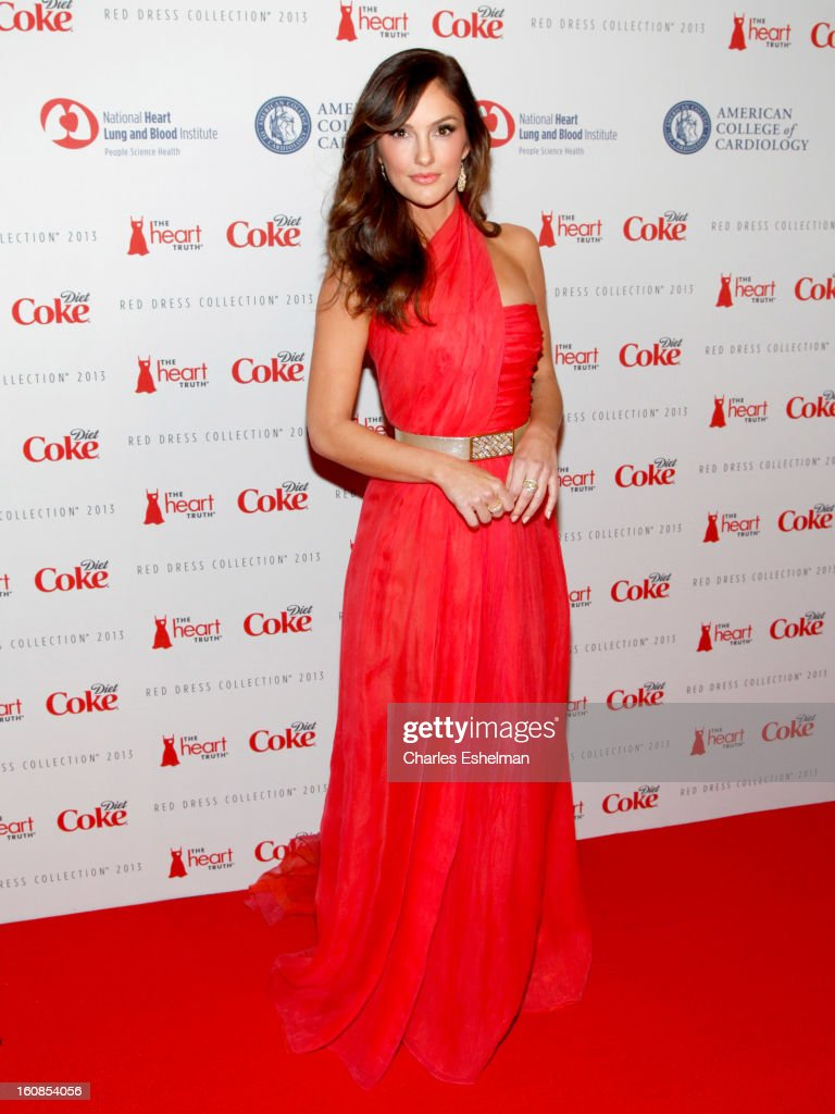 Actress Minka Kelly attends The Heart Truth's Red Dress Collection Fall 2013 Mercedes-Benz Fashion Show at 499 Seventh Avenue on February 6, 2013 in New York City.