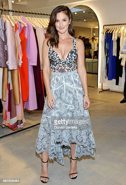 Actress Minka Kelly attends the opening of the ZIMMERMANN Melrose Place Flagship Store hosted by Nicky and Simone Zimmermann on July 29 2015 in Los...