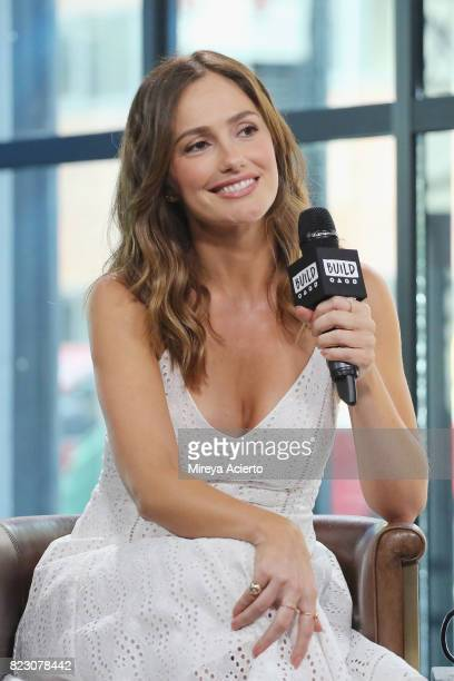 actress Minka Kelly visits Build to discuss her clothing line FashionABLE at Build Studio on July 26 2017 in New York City