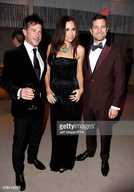 Actress Minnie Driver and actor Joshua Jackson attend the 2014 Vanity Fair Oscar Party Hosted By Graydon Carter on March 2 2014 in West Hollywood...