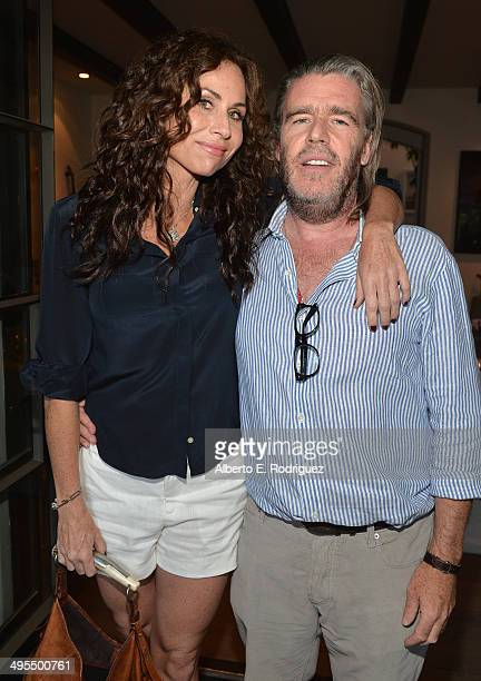 Actress Minnie Driver and author Kevin Morris attend Kevin Morris' White Man's Problem book release party on June 3 2014 in Los Angeles California