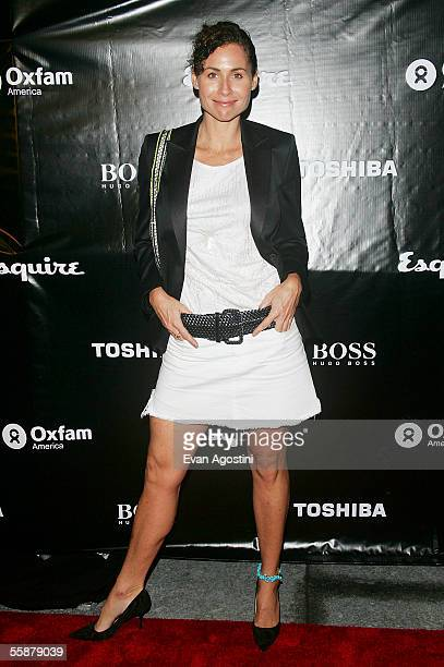 Actress Minnie Driver arrives at an Oxfam America charity event at Esquire Downtown at Astor Place October 07 2005 in New York City