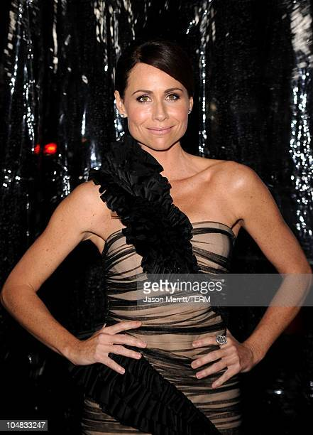 Actress Minnie Driver arrives at Fox Searchlight Pictures' Conviction premiere at the Samuel Goldwyn Theater on October 5 2010 in Beverly Hills...