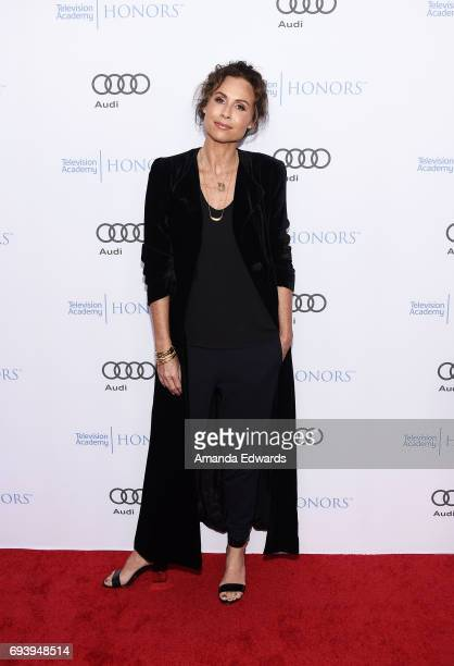 Actress Minnie Driver arrives at the 10th Annual Television Academy Honors at the Montage Beverly Hills on June 8 2017 in Beverly Hills California
