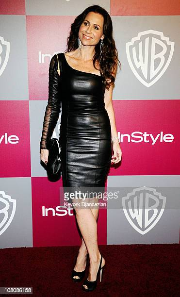 Actress Minnie Driver arrives at the 2011 InStyle And Warner Bros 68th Annual Golden Globe Awards postparty held at The Beverly Hilton hotel on...