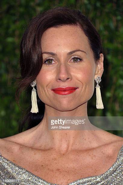 Actress Minnie Driver arrives at the 2012 Vanity Fair Oscar Party hosted by Graydon Carter at Sunset Tower on February 26 2012 in West Hollywood...