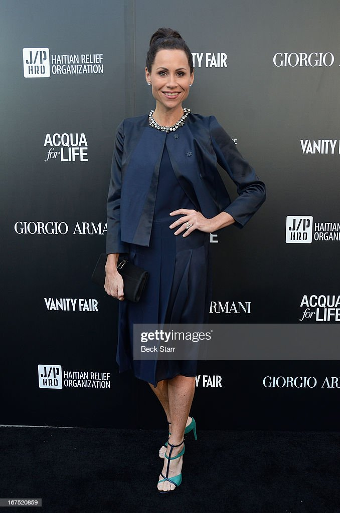Actress Minnie Driver arrives at the Giorgio Armani party to celebrate Paris Photo Los Angeles Vernissage opening night at Paramount Studios on April 25, 2013 in Hollywood, California.