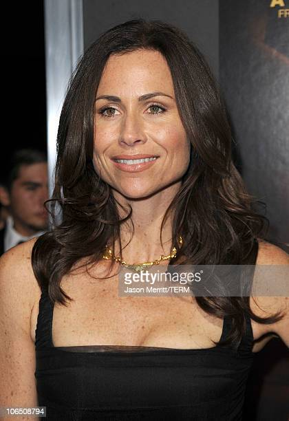 Actress Minnie Driver arrives at the premiere of 127 Hours at the Academy Of Motion Picture Arts and Sciences Samuel Goldwyn Theater on November 3...