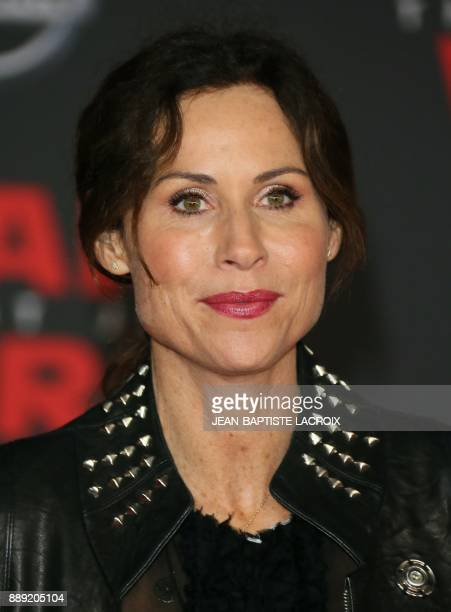 Actress Minnie Driver arrives for the premiere of Disney Pictures and Lucasfilm's 'Star Wars The Last Jedi' at The Shrine Auditorium in Los Angeles...