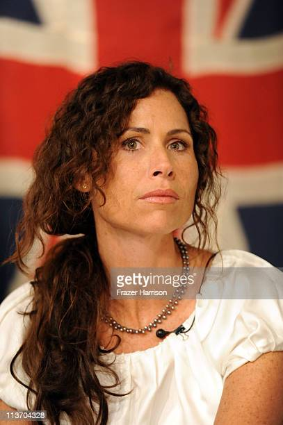 Actress Minnie Driver attends 'A Salute to British Design' panel discussion at The Pacific Design Center celebrates the 2011 BritWeek on May 4 2011...
