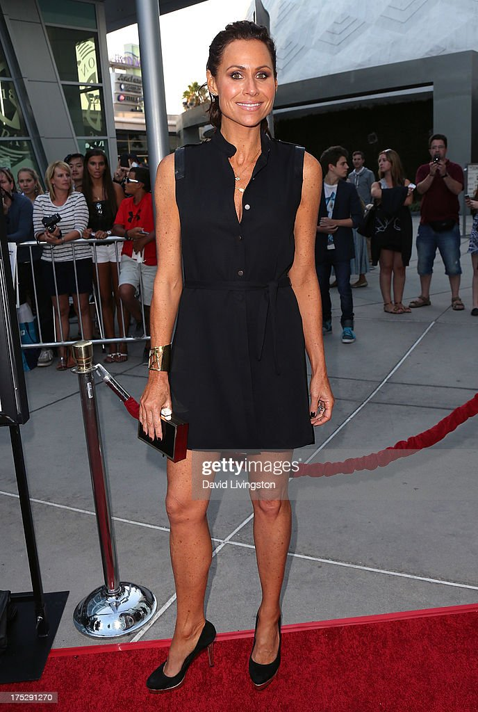 Actress Minnie Driver attends a screening of Magnolia Pictures' 'I Give It a Year' at ArcLight Hollywood on August 1, 2013 in Hollywood, California.