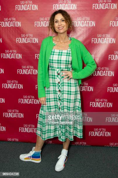Actress Minnie Driver attends SAGAFTRA Foundation Conversations with 'Speechless' at SAGAFTRA Foundation Screening Room on June 7 2018 in Los Angeles...