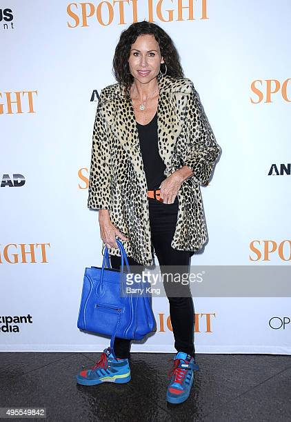 "Actress Minnie Driver attends screening of Open Road Films' ""Spotlight"" at the DGA Theater on November 3, 2015 in Los Angeles, California."