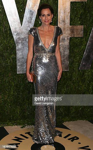 Actress Minnie Driver attends the 2013 Vanity Fair Oscar Party at the Sunset Tower Hotel on February 24 2013 in West Hollywood California