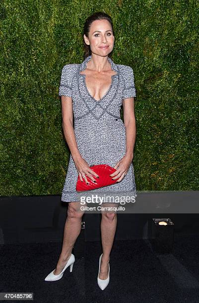 Actress Minnie Driver attends the 2015 Tribeca Film Festival Chanel artists dinner at Balthazar on April 20 2015 in New York City