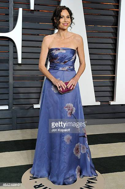 Actress Minnie Driver attends the 2015 Vanity Fair Oscar Party hosted by Graydon Carter at Wallis Annenberg Center for the Performing Arts on...