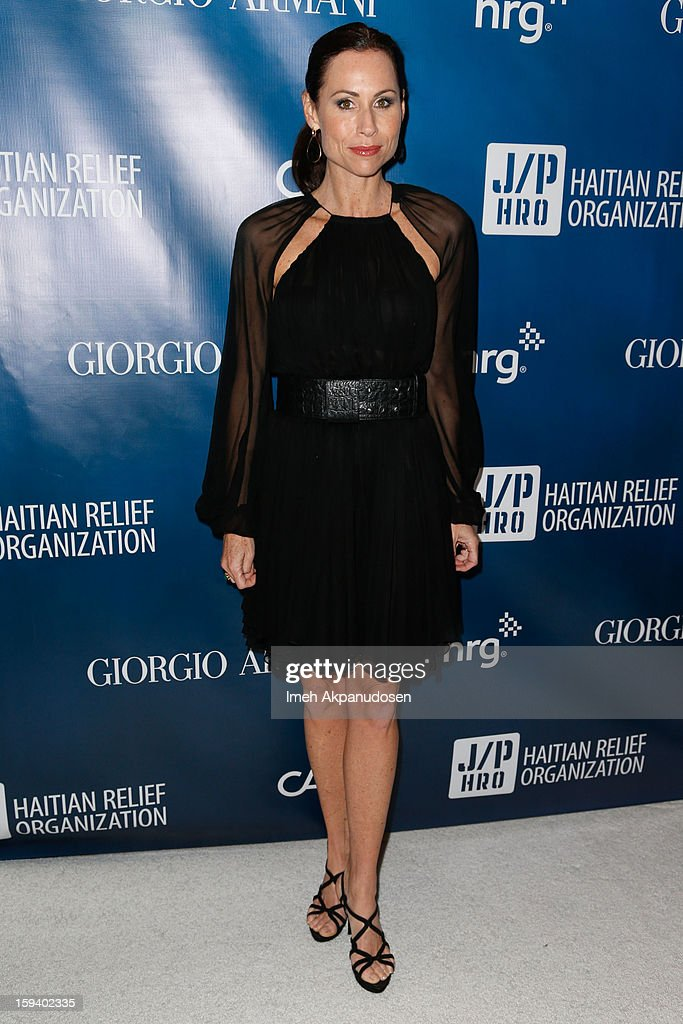 Actress Minnie Driver attends the 2nd Annual Sean Penn and Friends Help Haiti Home Gala benefiting J/P HRO presented by Giorgio Armani at Montage Hotel on January 12, 2013 in Los Angeles, California.