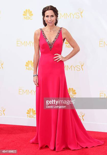 Actress Minnie Driver attends the 66th Annual Primetime Emmy Awards at the Nokia Theatre L.A. Live on August 25, 2014 in Los Angeles, California.