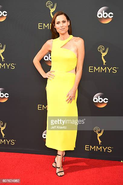 Actress Minnie Driver attends the 68th Annual Primetime Emmy Awards at Microsoft Theater on September 18, 2016 in Los Angeles, California.