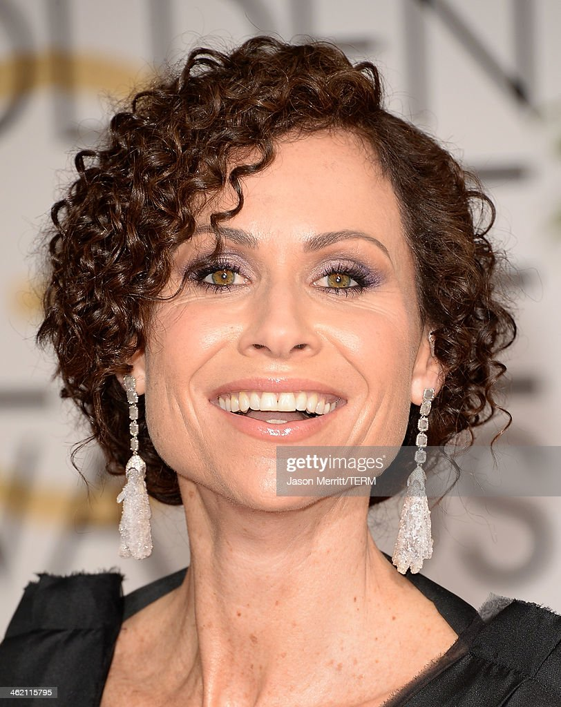 Actress Minnie Driver attends the 71st Annual Golden Globe Awards held at The Beverly Hilton Hotel on January 12, 2014 in Beverly Hills, California.