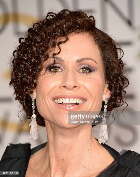 Actress Minnie Driver attends the 71st Annual Golden Globe Awards held at The Beverly Hilton Hotel on January 12 2014 in Beverly Hills California