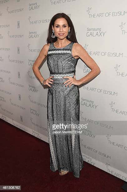 Actress Minnie Driver attends the 8th Annual HEAVEN Gala presented by Art of Elysium and Samsung Galaxy at Hangar 8 on January 10, 2015 in Los...