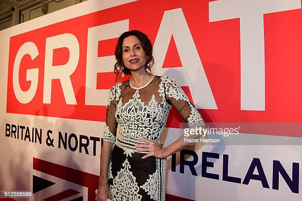 Actress Minnie Driver attends the Film is GREAT Reception at Fig Olive on February 26 2016 in West Hollywood California