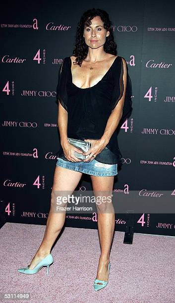 Actress Minnie Driver attends the Jimmy Choo and Cartier Present 'Four Inches' event held at Mortons on June 21 2005 in Los Angeles California