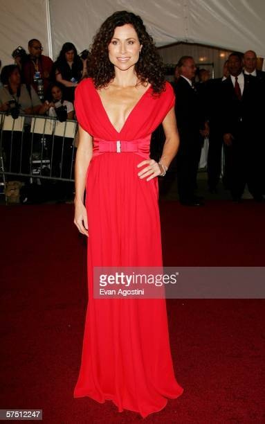 Actress Minnie Driver attends the Metropolitan Museum of Art Costume Institute Benefit Gala Anglomania at the Metropolitan Museum of Art May 1 2006...