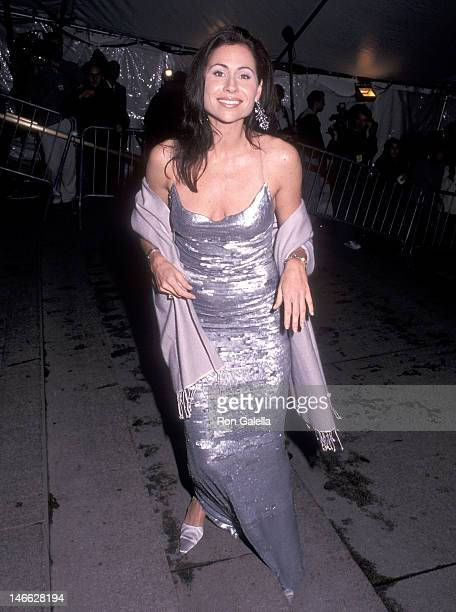 Actress Minnie Driver attends the Metropolitan Museum of Art's Costume Institute Gala Exhibition of Rock Style on December 6 1999 at the Metropolitan...