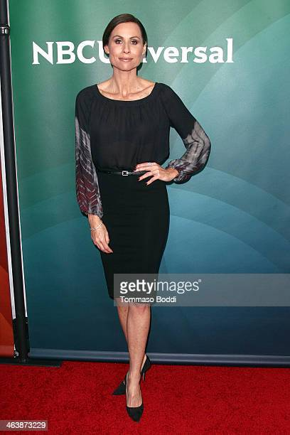 Actress Minnie Driver attends the NBC/Universal 2014 TCA Winter Press Tour held at The Langham Huntington Hotel and Spa on January 19 2014 in...