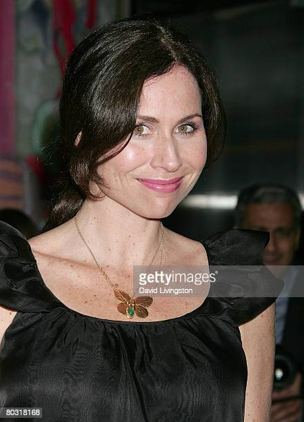 Actress Minnie Driver attends the Prada Los Angeles screening of 'Trembled Blossoms' at Prada Beverly Hills Epicenter on March 19 2008 in Beverly...