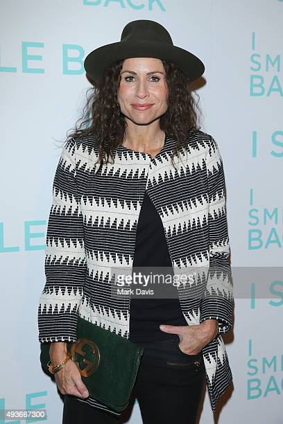 Actress Minnie Driver attends the premiere of Broad Green Pictures' I Smile Back at ArcLight Cinemas on October 21 2015 in Hollywood California