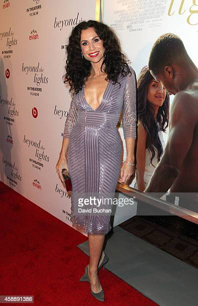 Actress Minnie Driver attends the Premiere of Relativity Studios and BET Networks' Beyond The Lights at ArcLight Hollywood on November 12 2014 in...