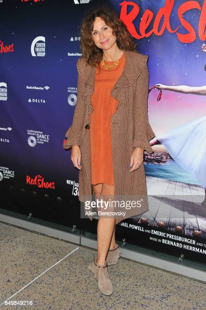 Actress Minnie Driver attends 'The Red Shoes' opening night performance at Ahmanson Theatre on September 19 2017 in Los Angeles California