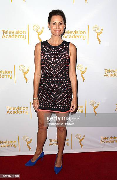 Actress Minnie Driver attends the Television Academy's Performers Peer Group Celebrates the 66th Emmy Awards at the Montage Beverly Hills Hotel on...