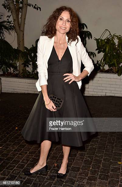 Actress Minnie Driver attends the W Magazine celebration of the 'Best Performances' Portfolio and The Golden Globes with Cadillac and Dom Perignon at...