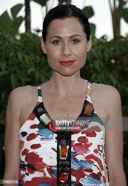 Actress Minnie Driver attends the YSL pool party at theThe Beverly Hills Hotel on June 14 2007 in Beverly Hills California
