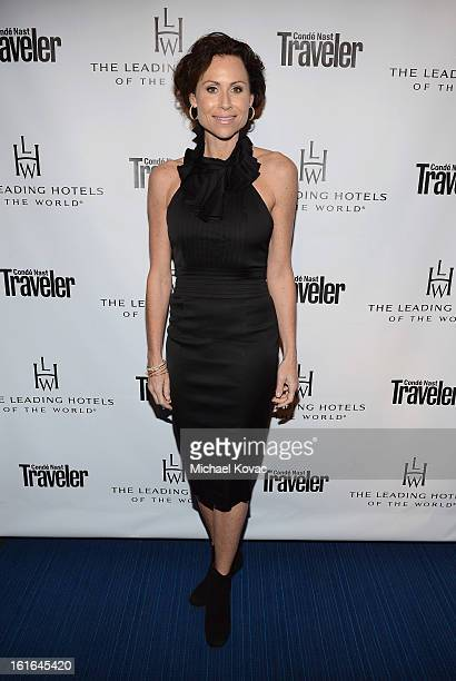 Actress Minnie Driver joins Conde Nast Traveler as they celebrate The Leading Hotels Of The World 85th Anniversary at Mr C Beverly Hills on February...