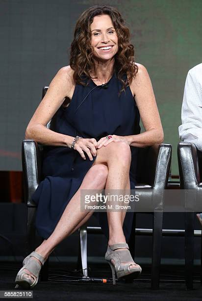 Actress Minnie Driver speaks onstage at the 'Speechless' panel discussion during the Disney ABC Television Group portion of the 2016 Television...