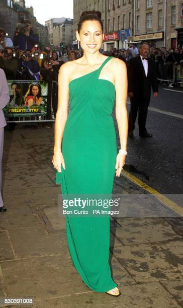 Actress Minnie Driver who stars in the film arrives for the premiere of Return to Me attended by the Prince of Wales at the Odeon cinema in Edinburgh...