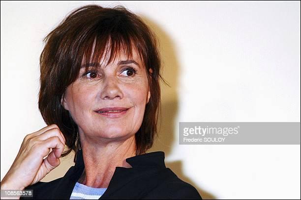 Actress MiouMiou in Paris France on April 14th 2004