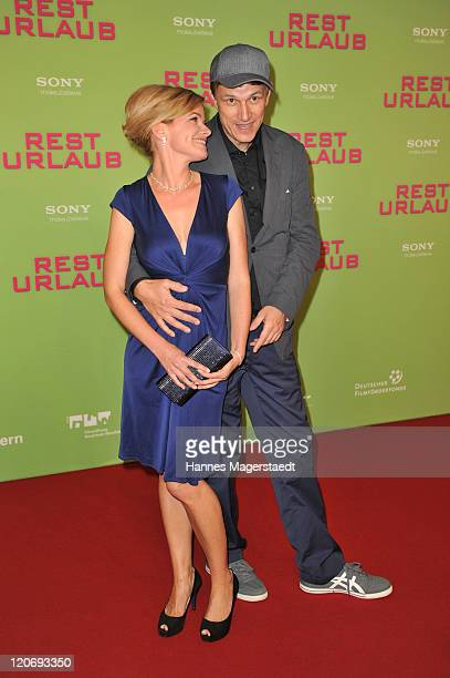 Actress Mira Bartuschek and Gregor Schnitzler attend the Germany Premiere 'Resturlaub' at the Mathaeser Filmpalast on August 8, 2011 in Munich,...