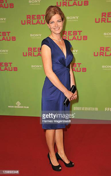 Actress Mira Bartuschek attends the Germany Premiere 'Resturlaub' at the Mathaeser Filmpalast on August 8, 2011 in Munich, Germany.