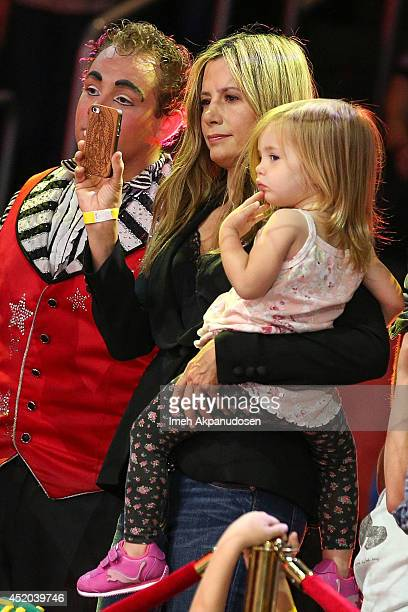 Actress Mira Sorvino and her daughter Mattea Angel Backus attend the premiere of Ringling Bros and Barnum Bailey's 'Legends' at Staples Center on...